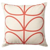 Orla Kiely 'Linear Stem' Cushion - Red